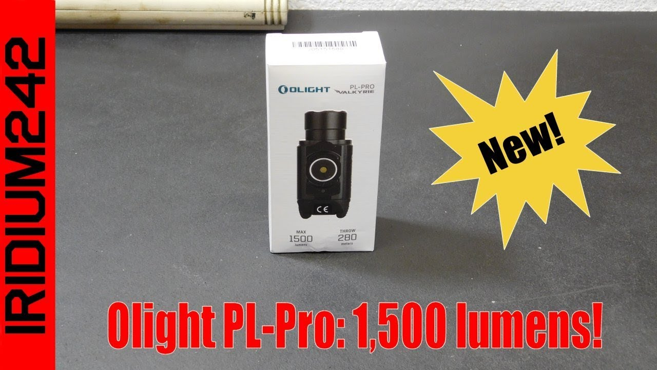 New From Olight: The PL Pro - 1,500 lumens!