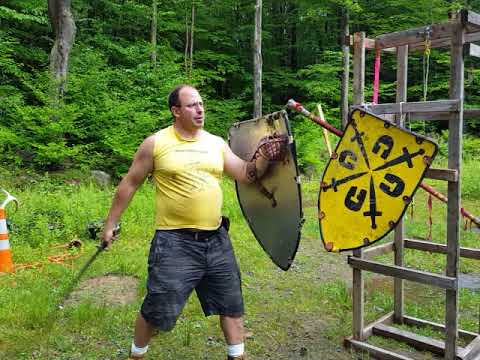 Sturzhau use in sword and shield fighting