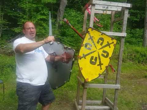 Winkerhau combinations in sword and shield combat