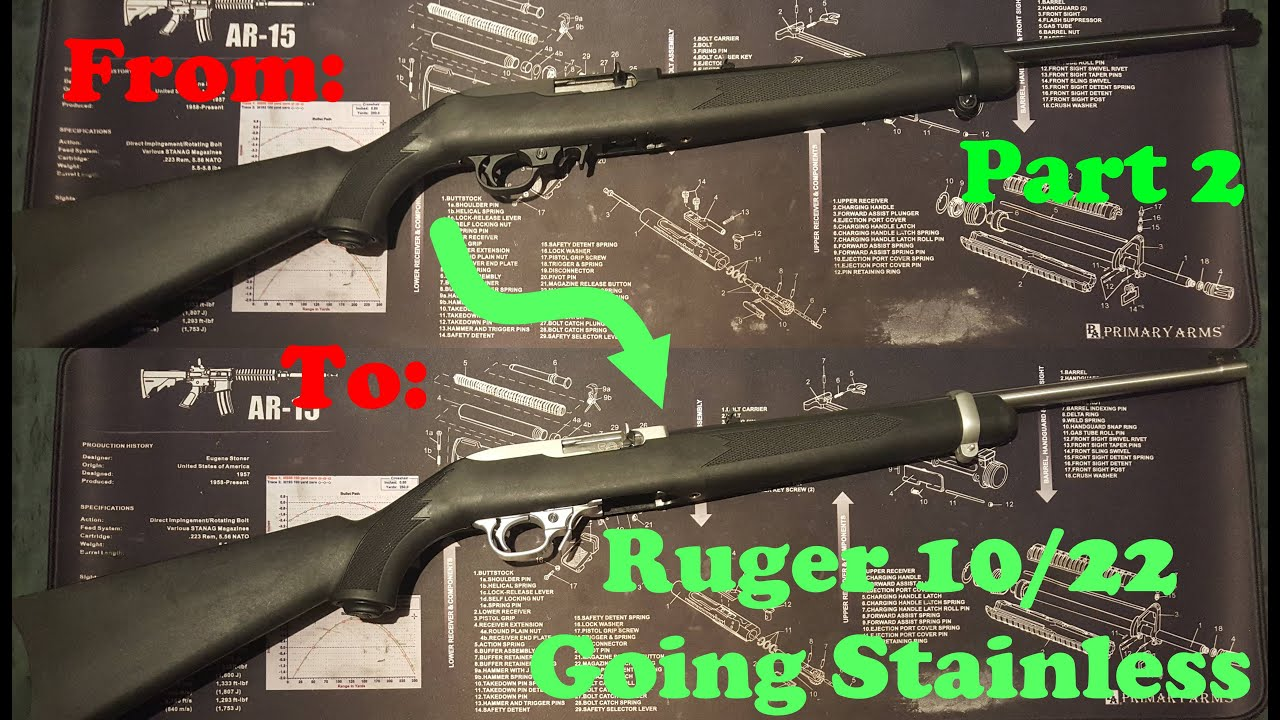 Ruger 10 22 Stainless Conversion Part 2 of 2