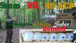 9mm VS .45 ACP Episode 4. Golden Saber Bonded