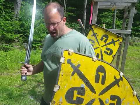 Wechselhau use in sword and shield combat