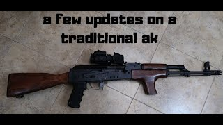 a few updates on  a traditional ak