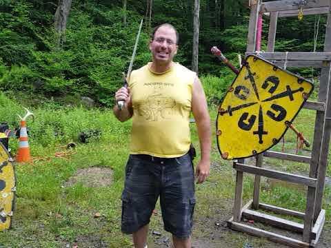 Scheitelhau use in sword and shield combat