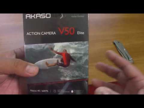 AKASO V50 ELITE UNBOXING AND TESTING