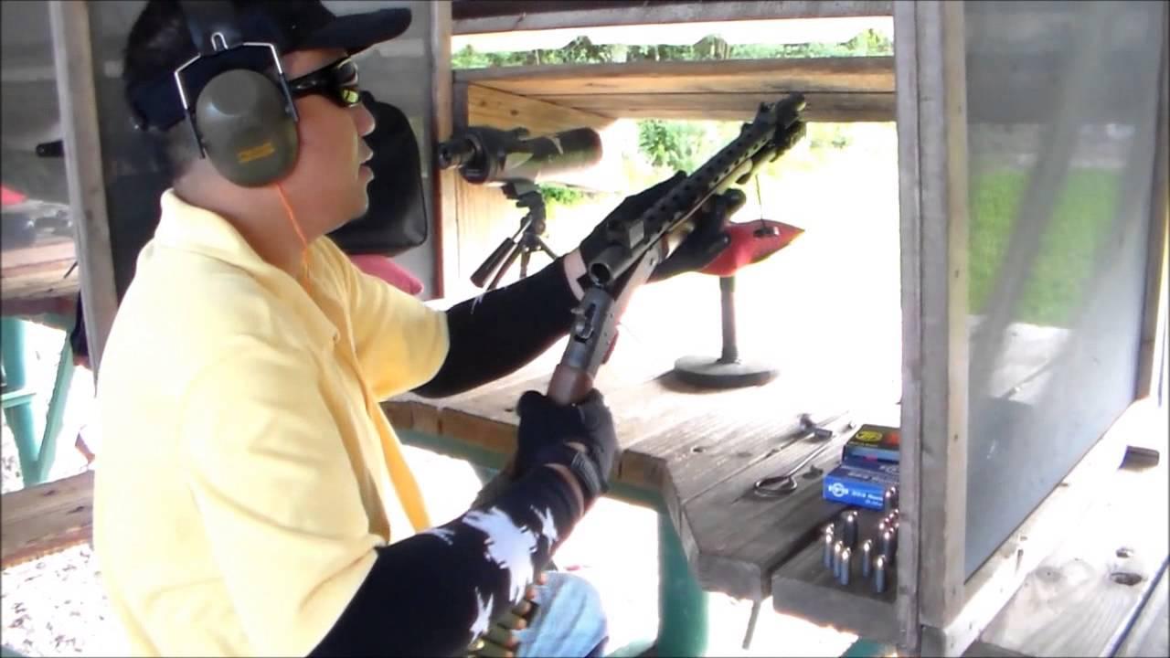 12 GUAGE TO 9MM SHOTGUN ADAPTER SHOOTING