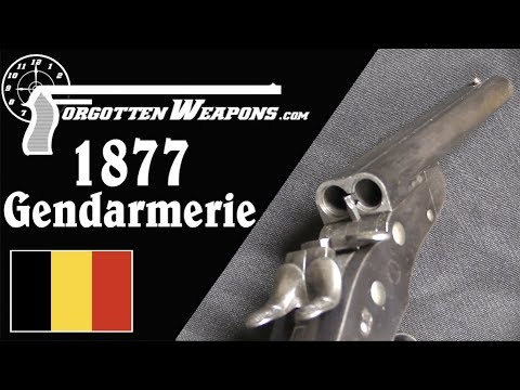 Nagant Model 1877 Gendarmerie Double Barrel Rolling Block Pistol