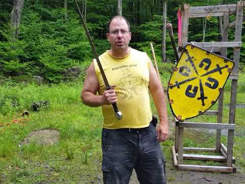Schielhau use in sword and shield combat