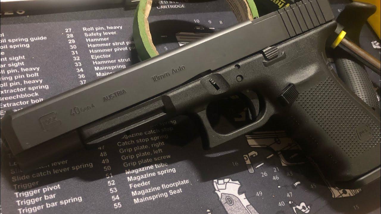 Glock 40 MOS 10mm Quick At The Range Shooting