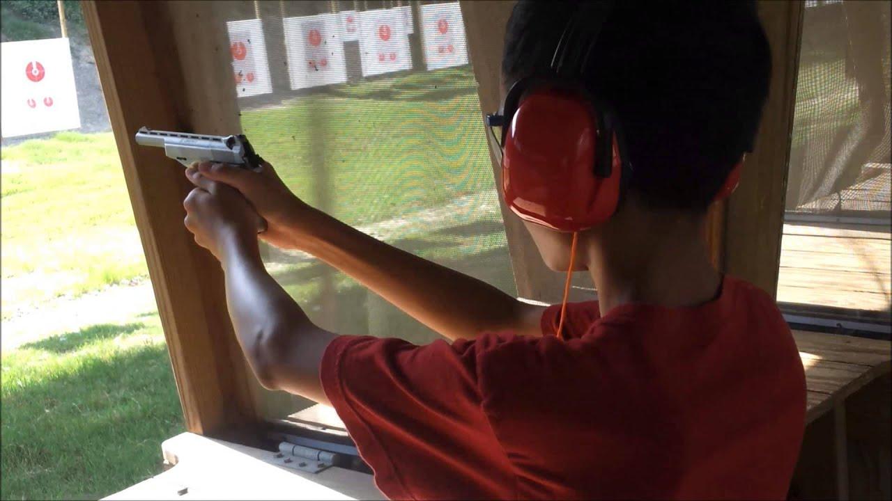 TEACHING MY KIDS HOW TO SHOOT A SEMI AUTO PISTOL