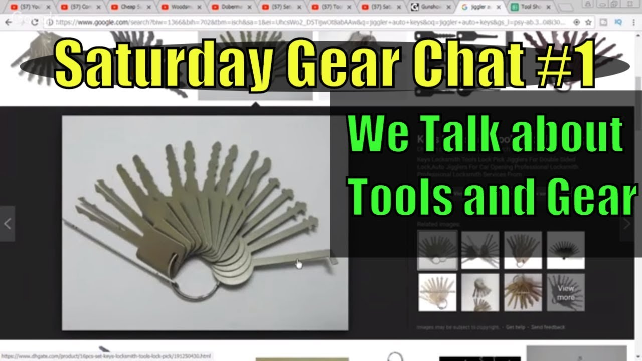 Saturday Gear Chat #1 .. We Talk about Tools and Gear