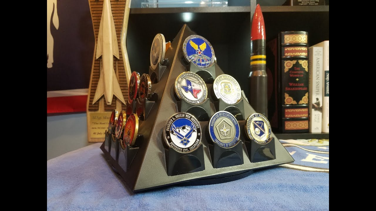 Pyramid Challenge Coin Holder | D-Day 75th anniversary