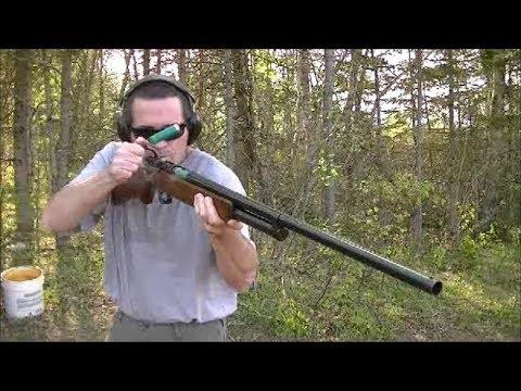J.C. Higgins Bolt Action Shotgun vs. Steel Plates