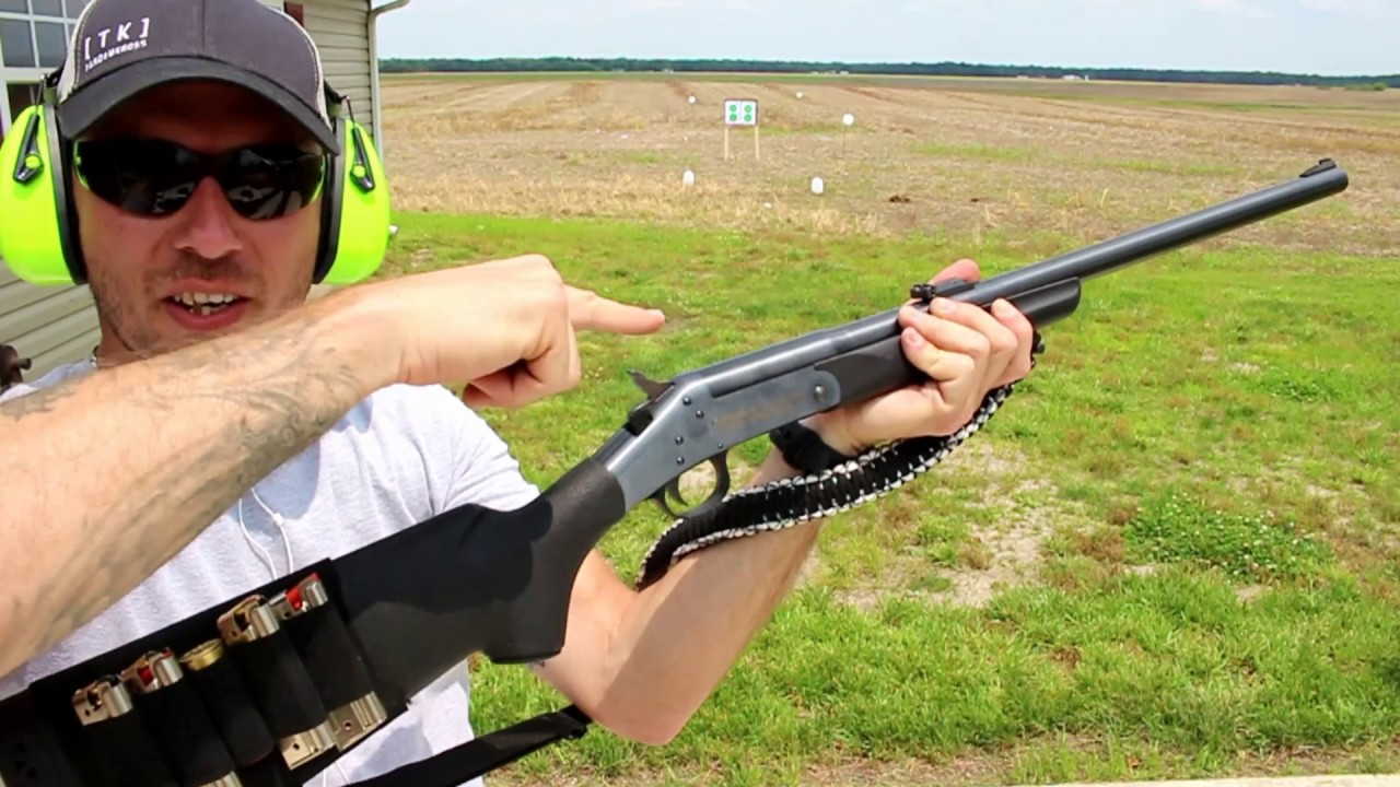 12 gauge shotgun plinking with 22LR FUN