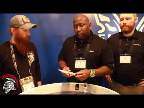 RWB drops by the benchmade booth