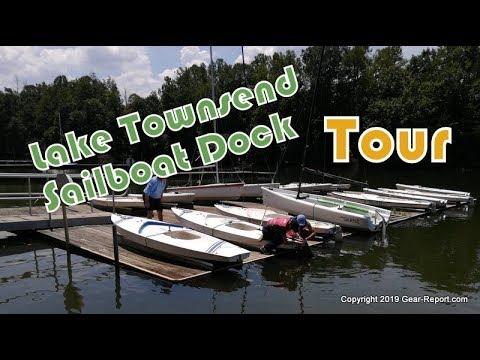 Tour of Lake Townsend Marina Sailboat Dock