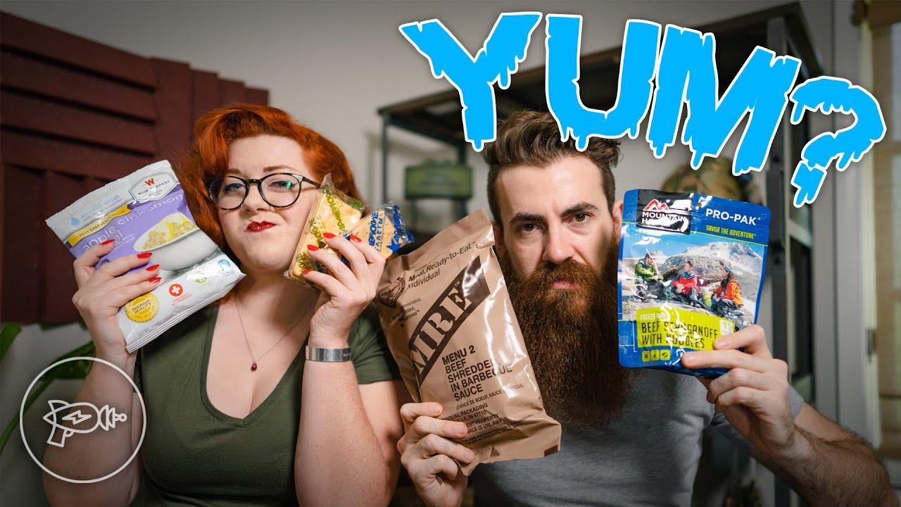 We ate WHAT? Survival & Hiking Food Taste Test [Review]