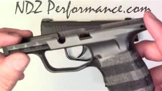 Sig P365 Grip Module Cerakote and Stippled option by NDZ Performance