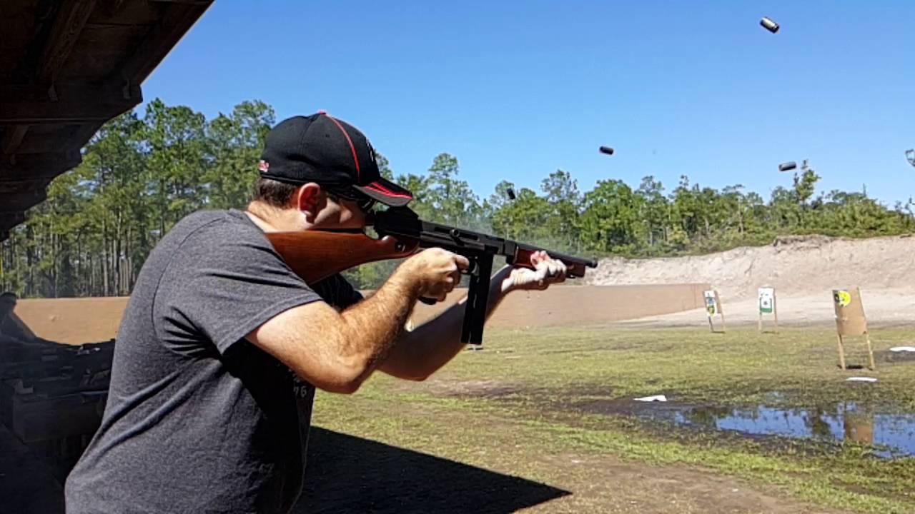 Slow-mo shooting my Tommy Gun M1 Thompson