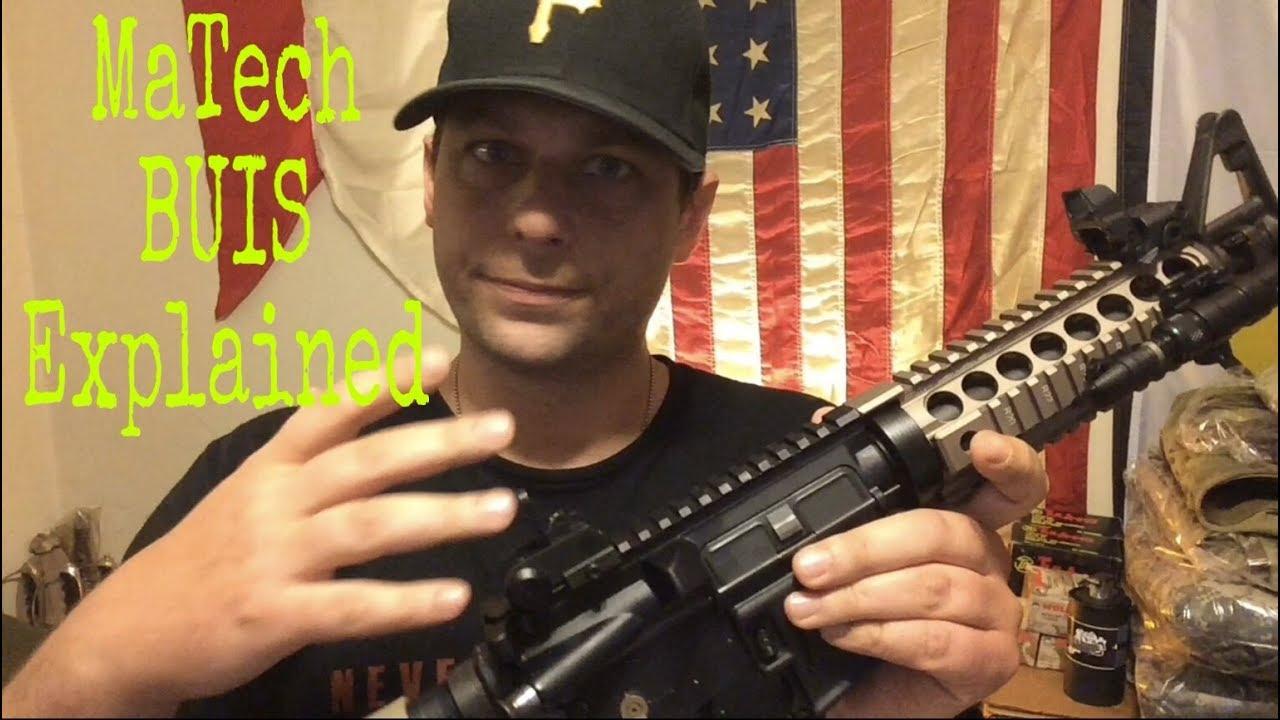 Matech back up iron sight setup explained   use and doctrine   US Army BUIS