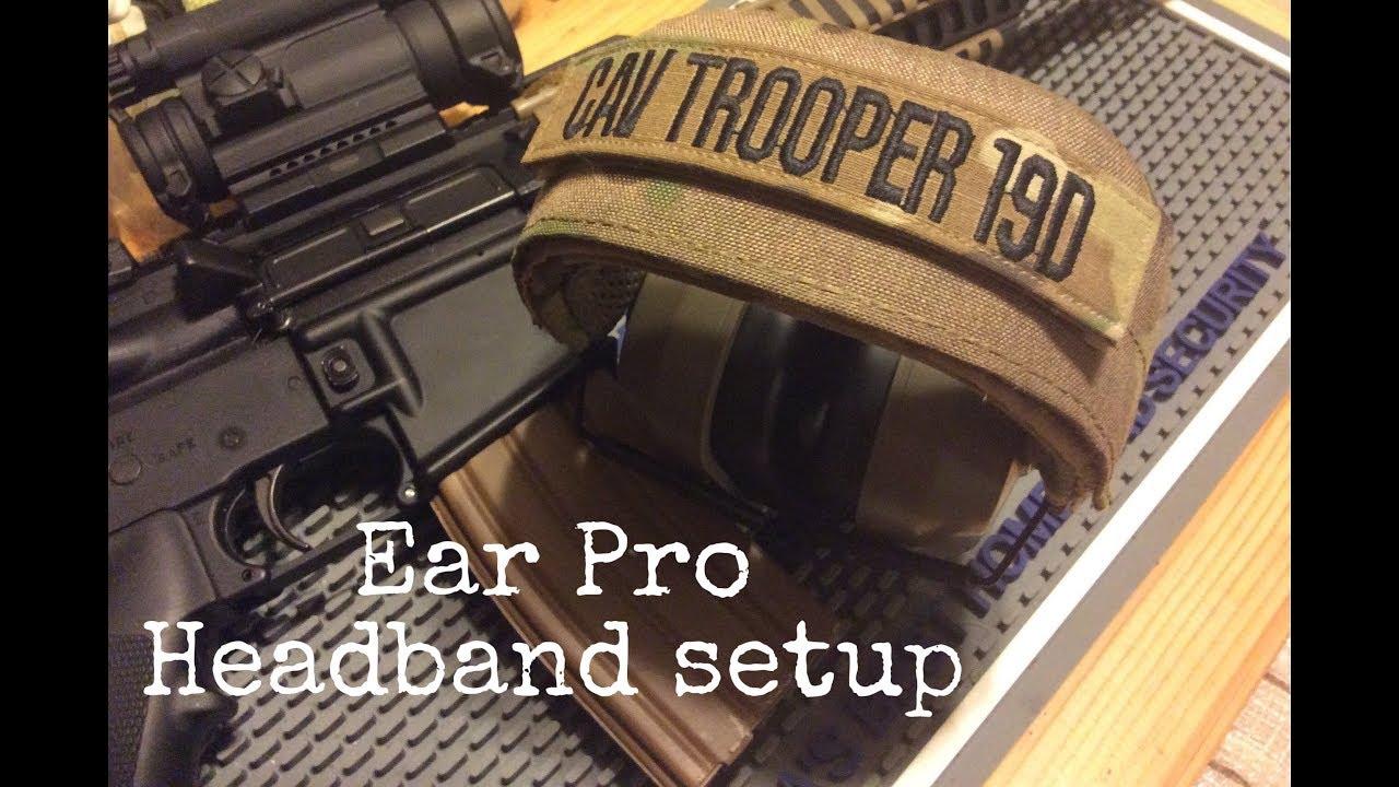 Ear Pro Headband Setup tip   SOE Peltor headband wrap   Electronic Hearing Protection