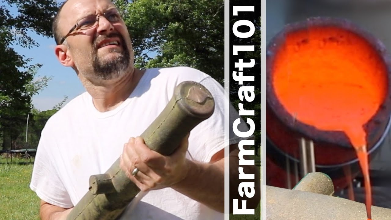 How To ALMOST Cast A Historic Bronze Cannon Barrel... GunCraft101