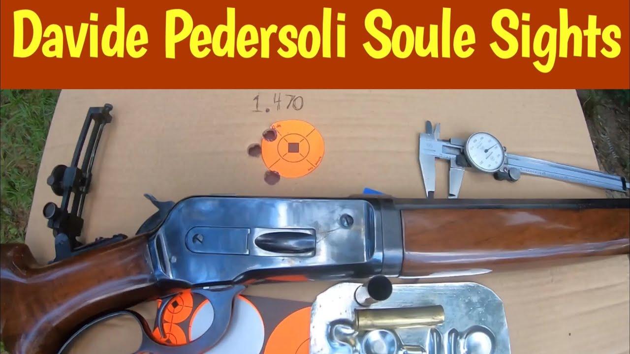 Davide Pedersoli Soule Sights 1886 Winchester cal 50-110 WCF