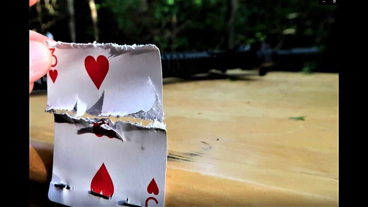 CMMG 9mm - Playing Card Split Trick Shot
