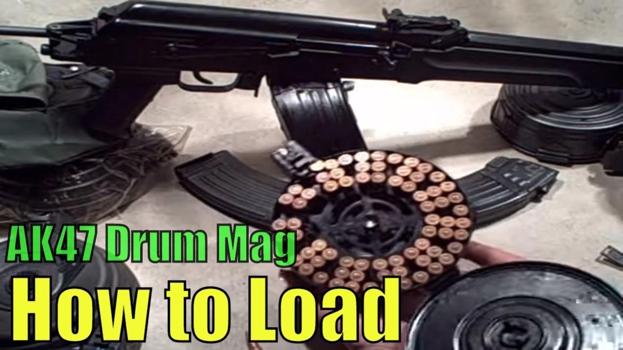 How to Load an AK47 Drum Magazines - Chinese style 75 round  Bulgarian made Kalashnikov Drum Mag