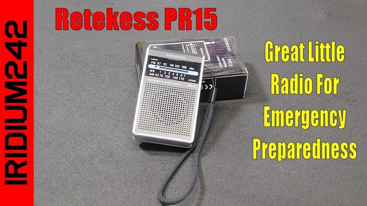 Retekess PR15 Micro AM FM Weather Pocket Radio