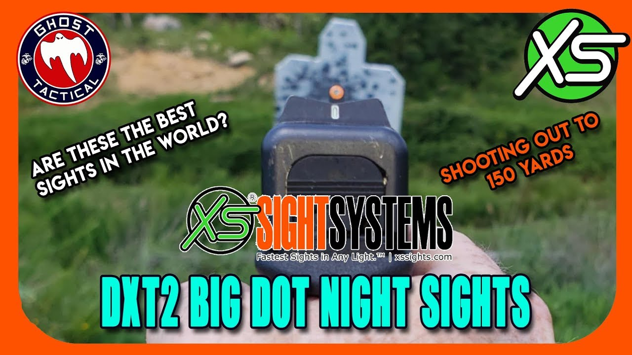 Shooting Glock 19 Out To 150 Yards!  XS Sights DXT2 Orange Big Dots
