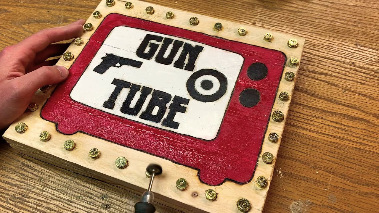 Gun Tube Wooden Sign Project Part 5. Shining The Brass!