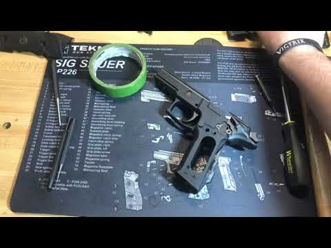 Sig P226 Legion/Elite SAO Complete Disassembly & Assembly