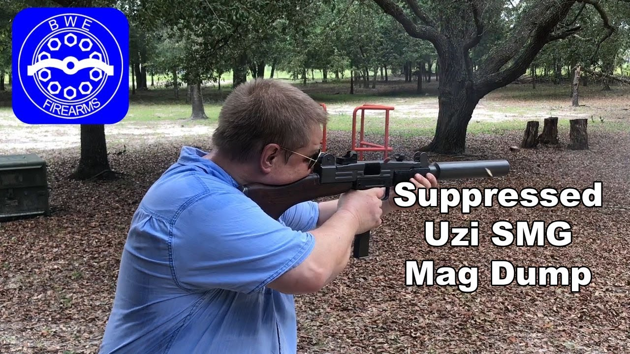 Suppressed Uzi SMG Mag Dump
