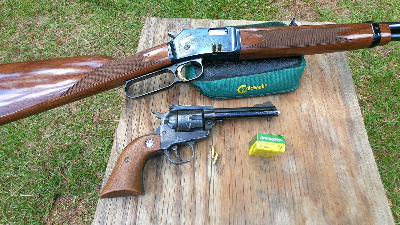 Water bottle cap challenge /Ruger single action revolver / Browning lever action