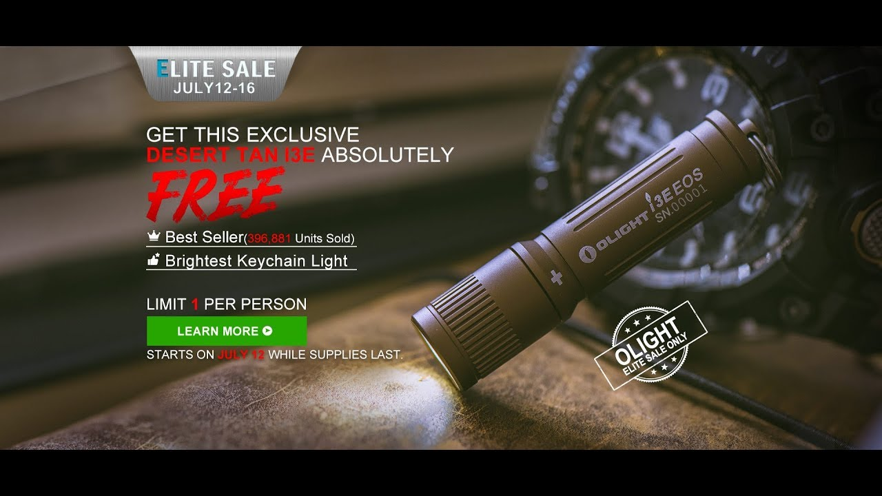 OLIGHT FLASHLIGHT SALE JULY 12 16 2019
