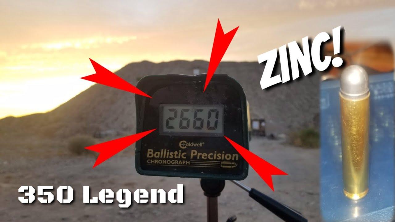 350 Legend - Velocities, Accuracy,  Max Range with 120gr Zinc Handloads - Lyman 358430
