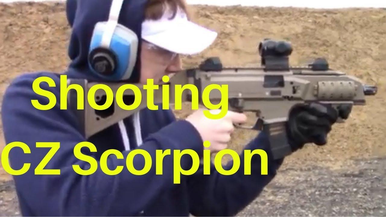 Shooting CZ Scorpion at range