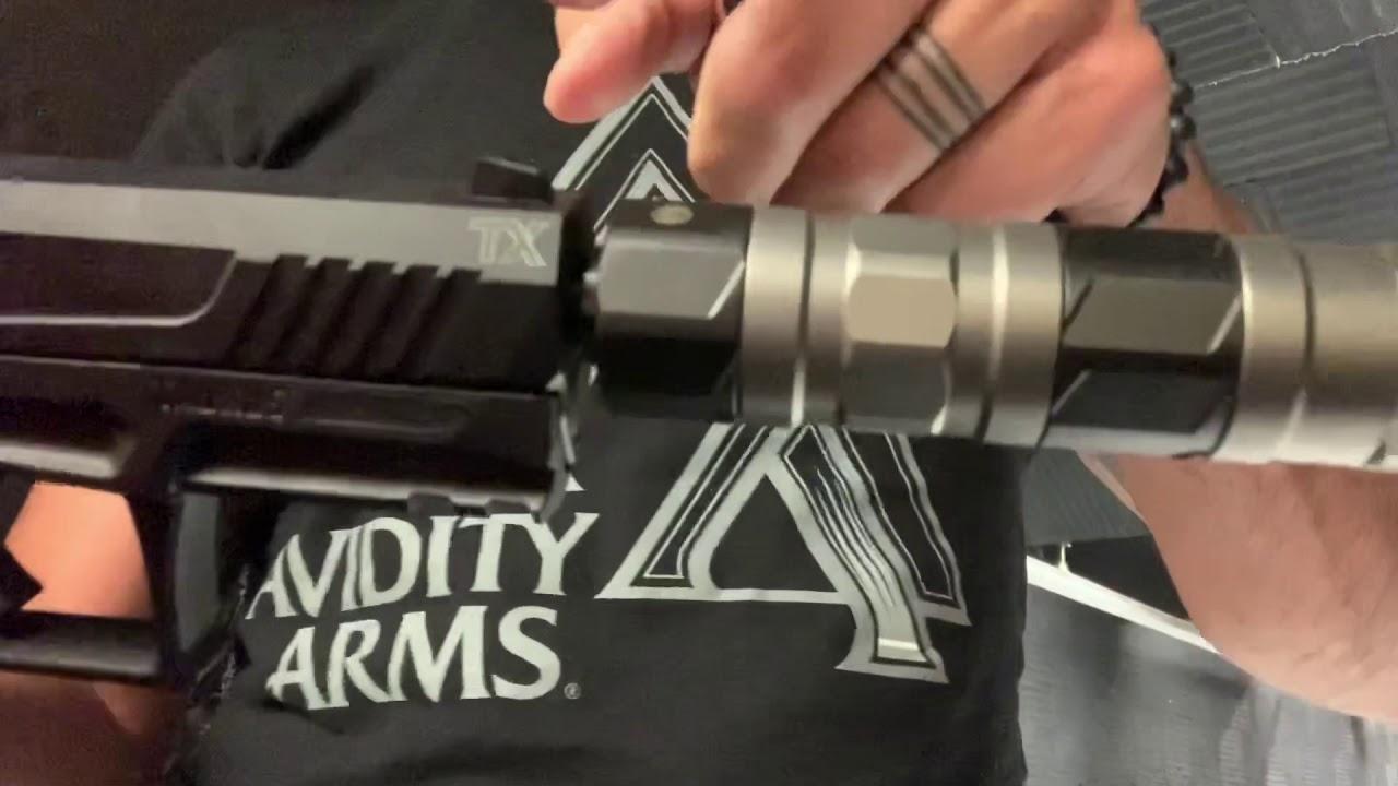 Taurus TX 22 Pistol (suppressed)