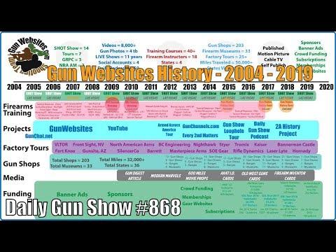 Gun Websites History - 2004 - 2019 - Daily Gun Show #868