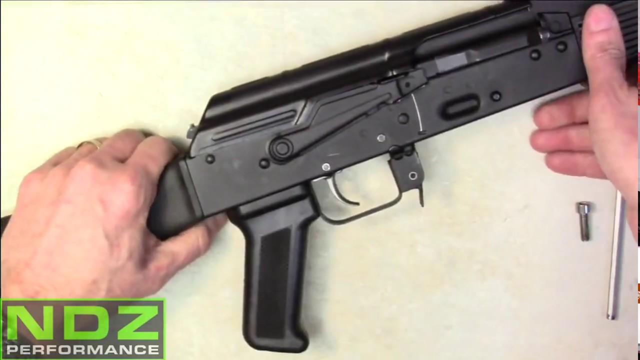 AK-47 Pistol Grip Install by NDZ Performance Aftermarket Skeleton Grips
