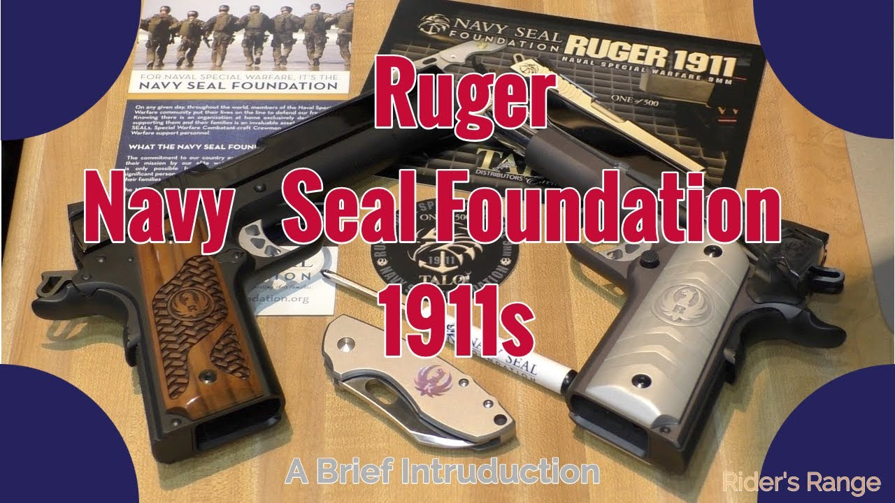 Ruger Navy Seal Foundation 1911s