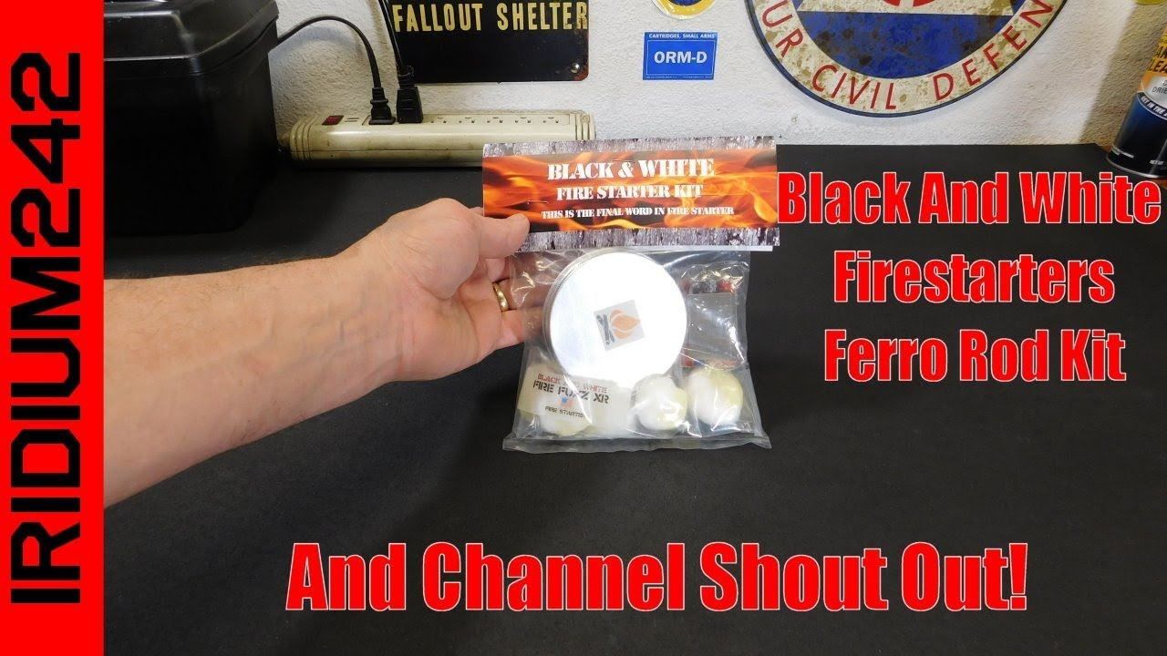 Black And White Ferro Rod Kit And Channel Shoutout!