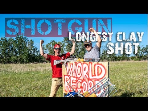 NEW WORLD RECORD Longest Clay Pigeon Shot with a Shotgun | Gould Brothers