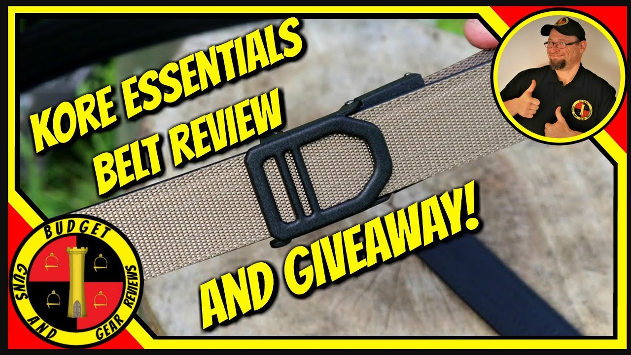 Kore Essentials Belt Review and GUNSTREAMER ONLY Giveaway! Leave a Comment!