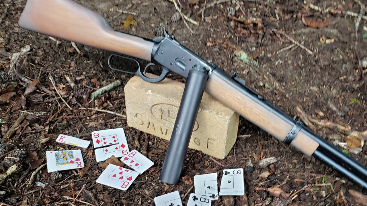 Splitting Cards With A Suppressed 44 Lever Action!
