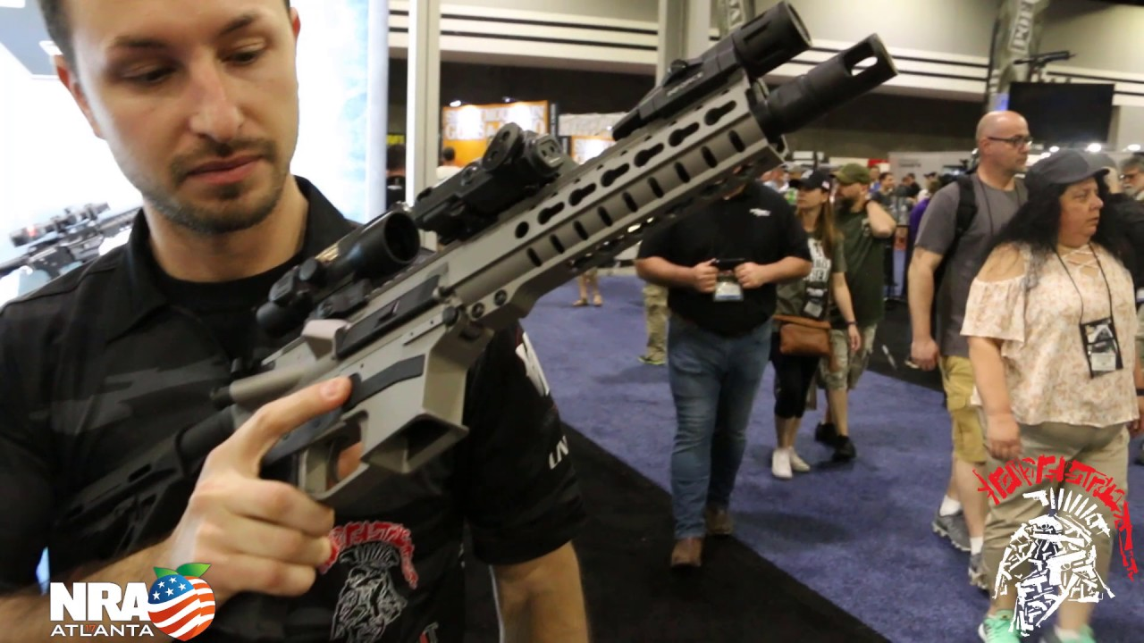 We got our hands on the NEW Hotness thr CMMG 45cal AR at NRA ATL