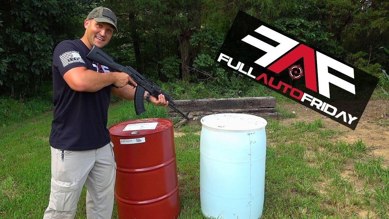 Full Auto Friday! AK-47 vs 55 Gallon Drums!
