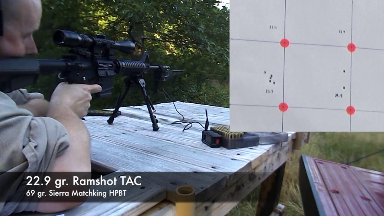 69 gr Matchking Testing- TAC- 223 Rem