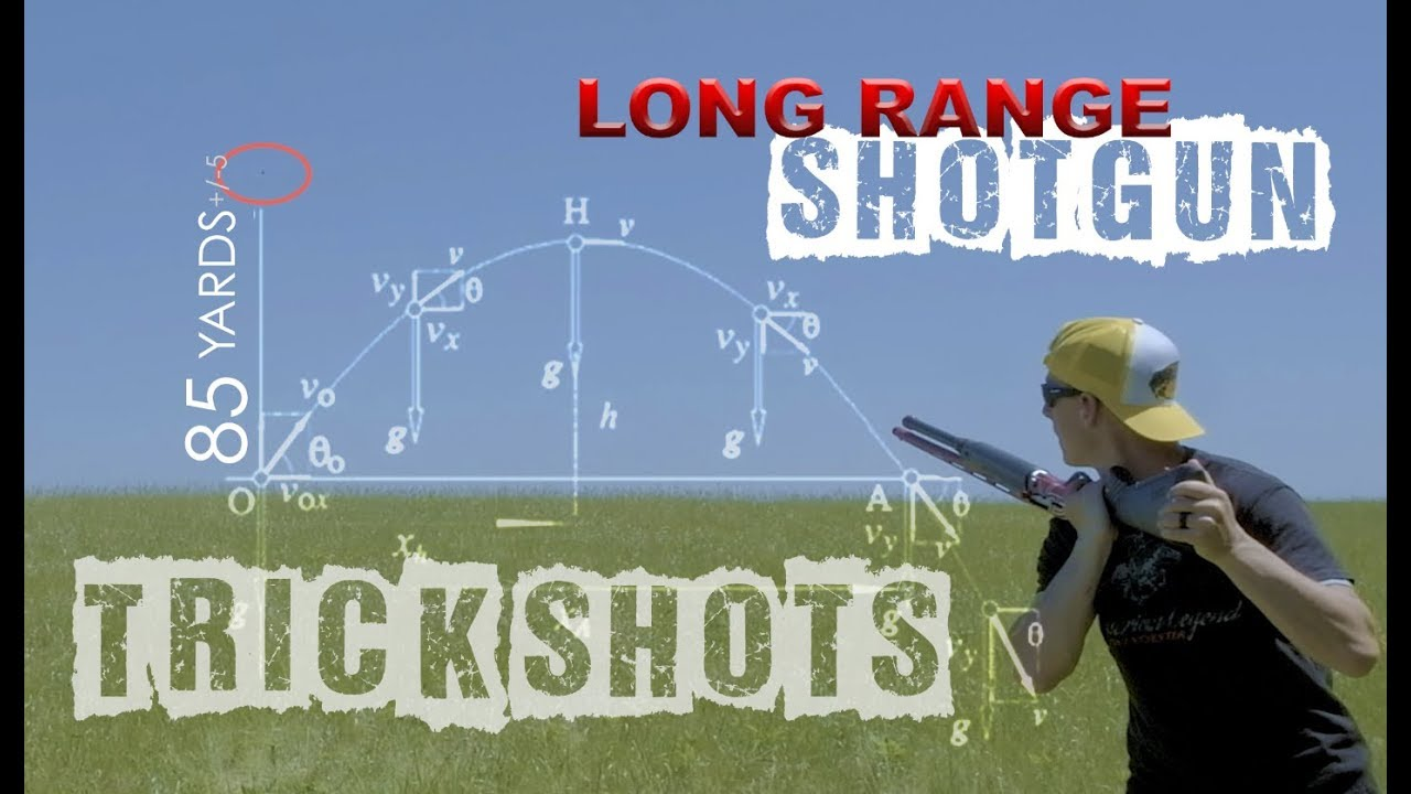 Long Range Shotgun Trick Shots | Gould Brothers